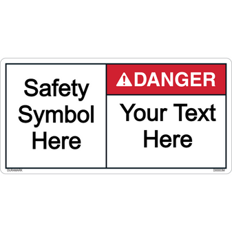 Custom Danger Label with Symbol