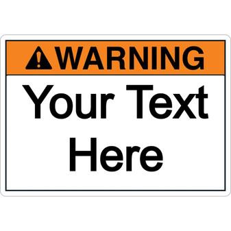 Custom Warning Label