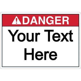Custom Danger Label
