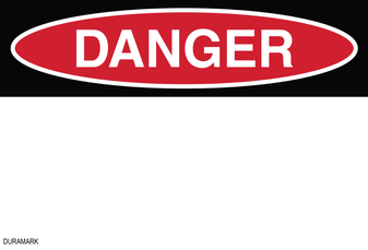 Custom OSHA Danger Label