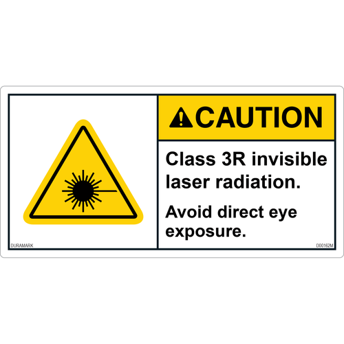 ANSI Safety Label - Caution - Laser Radiation - Class 3R Invisible