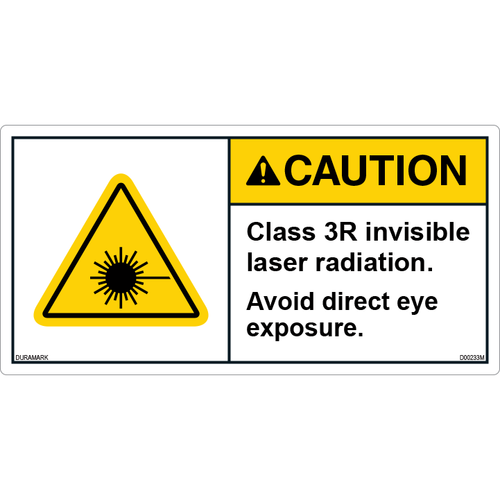 ANSI Safety Label - Caution - Invisible Laser - Class 3R
