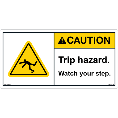 ANSI Safety Label - Caution - Trip Hazard - Watch Your Step