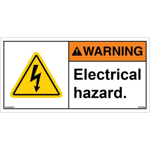ANSI Safety Label - Warning - Electrical Hazard