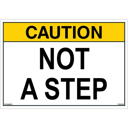 ANSI Safety Label - Caution - Not A Step