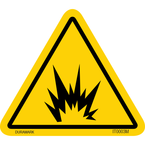 ISO safety label - Triangle - Arc/Explosion