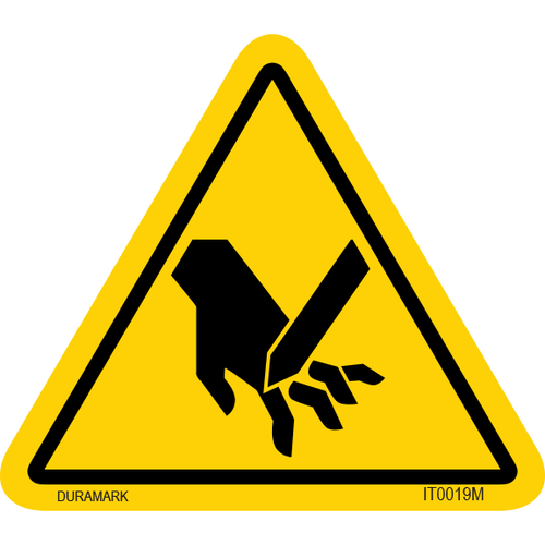 ISO safety label - Triangle - Hand Cut