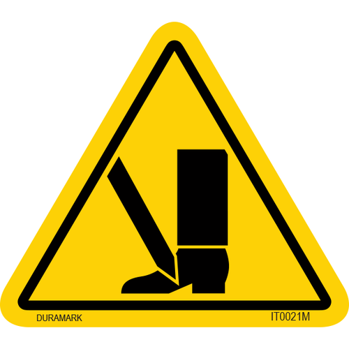 ISO safety label - Triangle - Foot Cut - Puncture