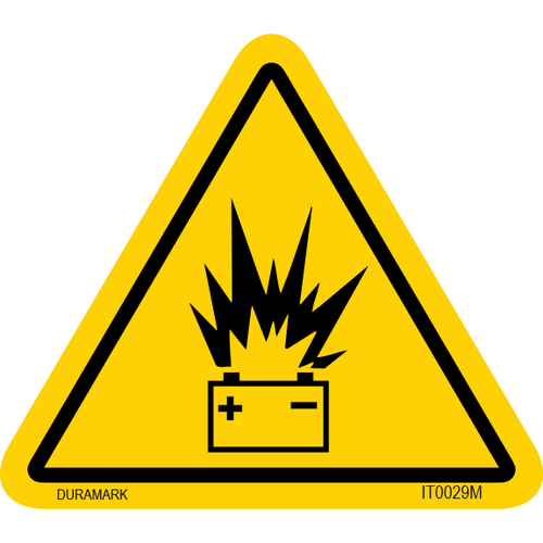 ISO safety label - Triangle - Battery Explosion