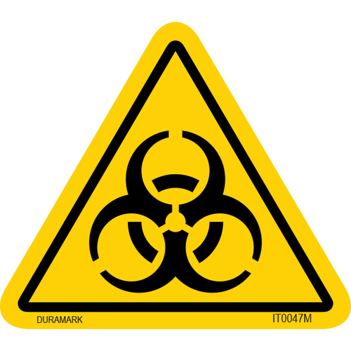 ISO safety label - Triangle - Exposure - Biohazard