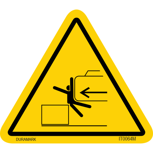 ISO safety label - Triangle - Body Crush