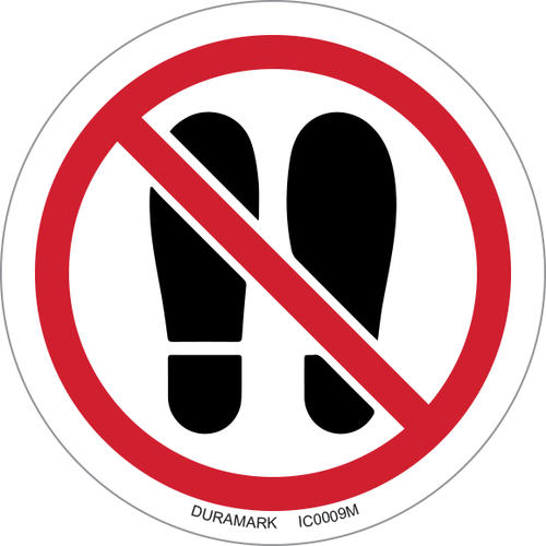 ISO safety label - Circle - Prohibited - Do Not Stand Here
