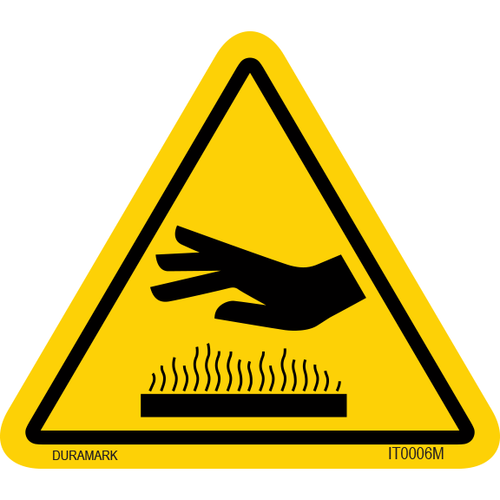 ISO safety label - Triangle - Hot Surface - Horizontal