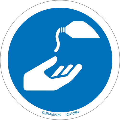 ISO safety label - Circle - Mandatory - Use Barrier Cream