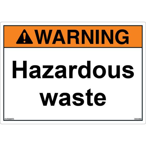 ANSI Safety Label - Warning - Hazardous Waste
