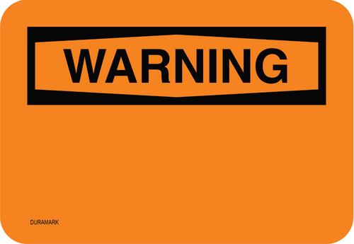 Custom OSHA Warning Label
