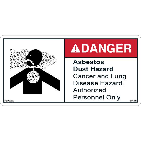 ANSI Safety Label - Danger - Asbestos Dust Hazard