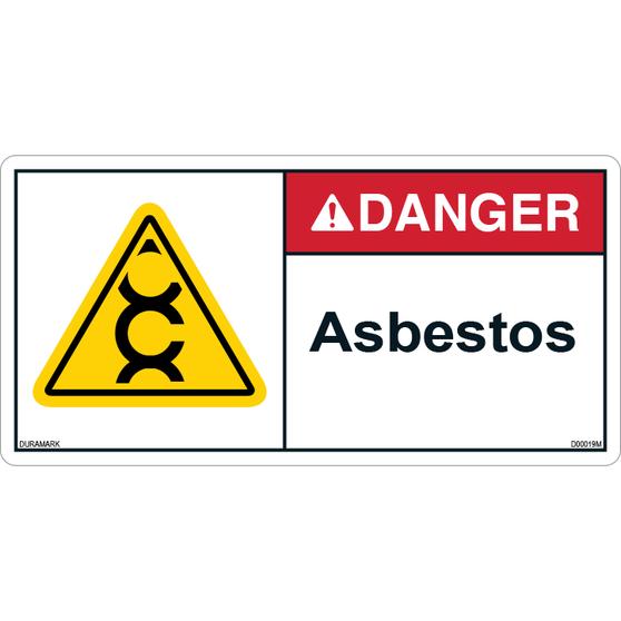 ANSI Safety Label - Danger - Asbestos