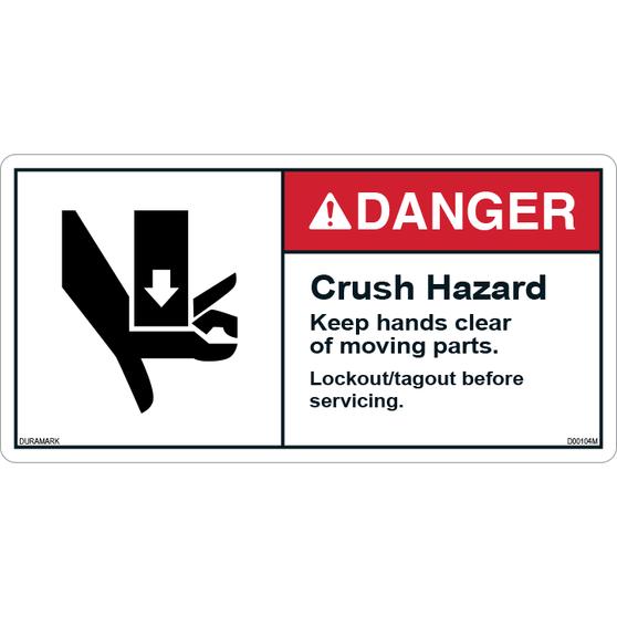 ANSI Safety Label - Danger - Do Not Enter - Lock Out Procedures