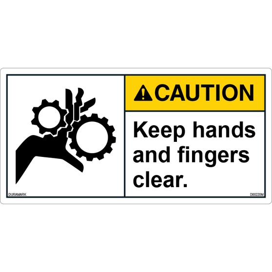 ANSI Safety Label - Caution - Keep Hands and Fingers Clear