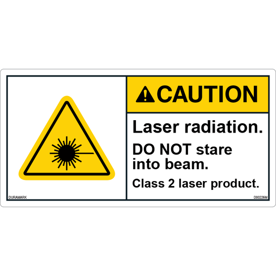 ANSI Safety Label - Caution - Laser Radiation