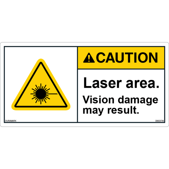 ANSI Safety Label - Caution - Laser Area