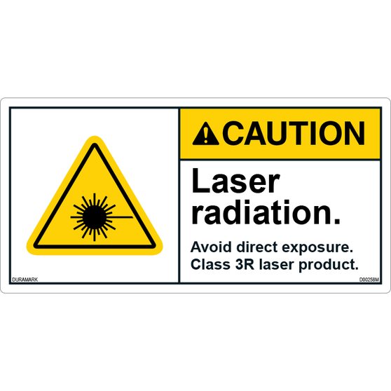 ANSI Safety Label - Caution - Invisible Laser Product - Class 3R