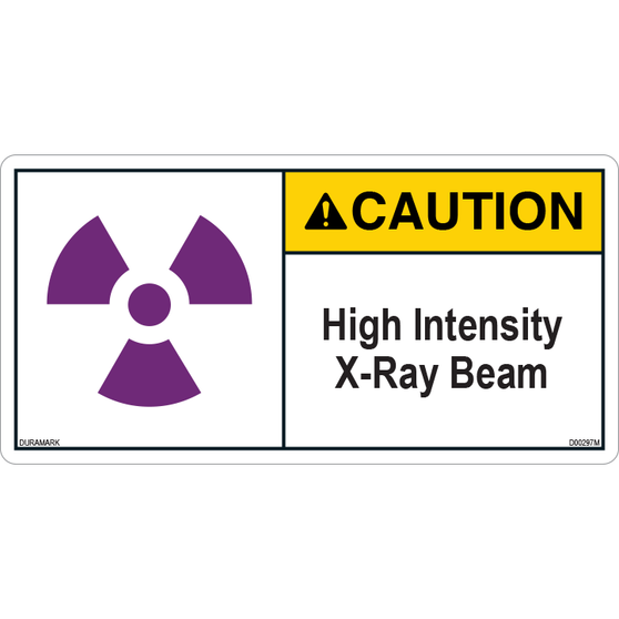 ANSI Safety Label - Caution - X-Ray - High Intensity