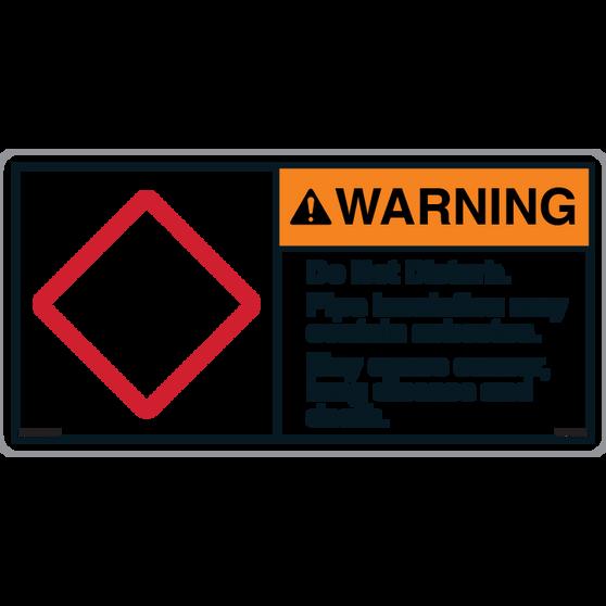 ANSI Safety Label - Warning - Asbestos - Do Not Disturb