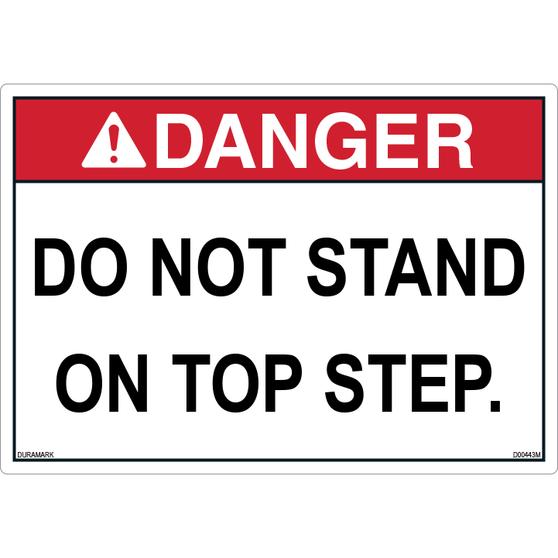 ANSI Safety Label - Danger - Do Not Stand