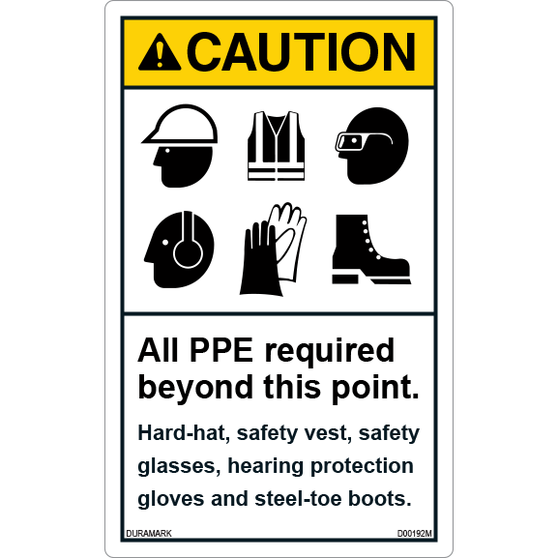 Caution - All PPE Required Beyond This Point - Vertical