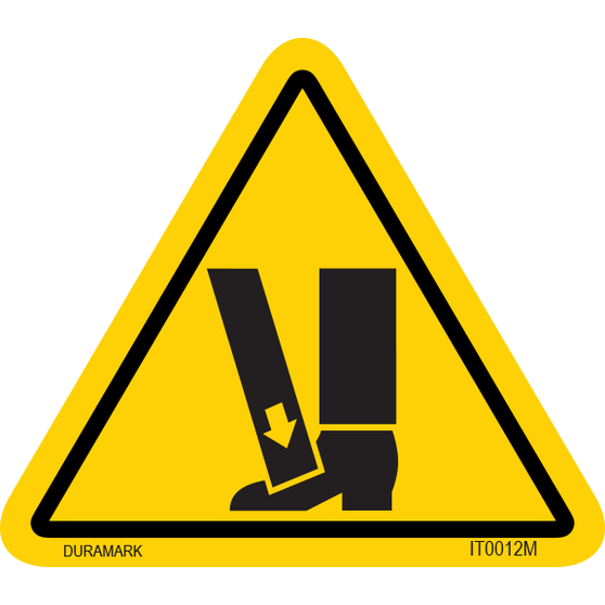 ISO safety label - Triangle - Foot Crush