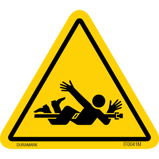 ISO safety label - Triangle - Entanglement - Body