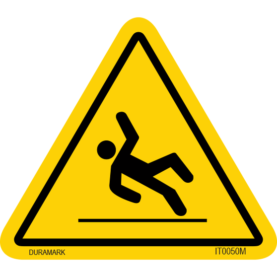 ISO safety label - Triangle - Fall Hazard