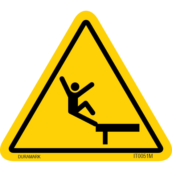 ISO safety label - Triangle - Fall - Edge