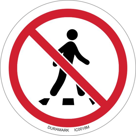 ISO safety label - Circle - Prohibited - No Thoroughfare
