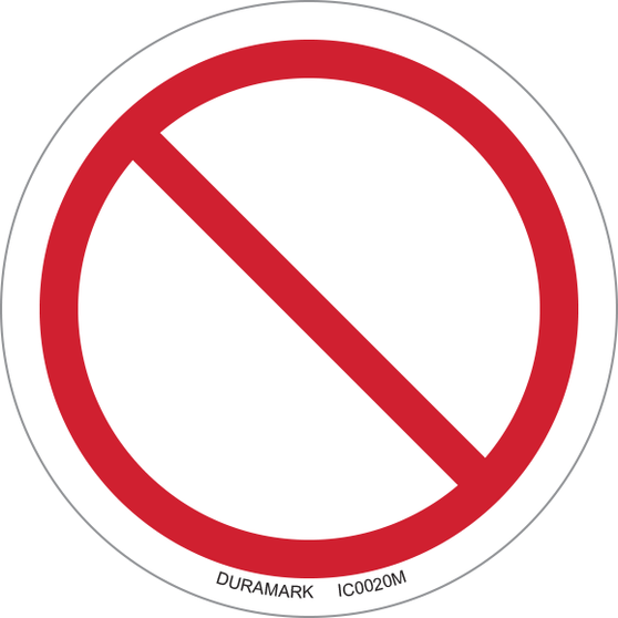 ISO safety label - Circle - Prohibited - General Prohibition