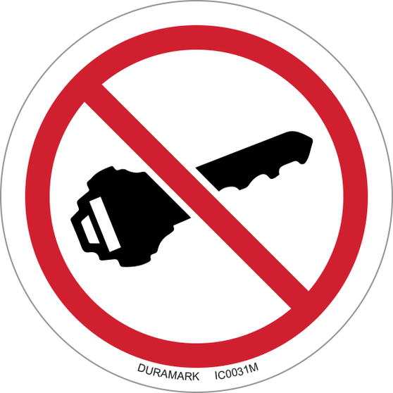 ISO safety label - Circle - Prohibited - No Ignition
