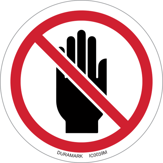 ISO safety label - Circle - Prohibited - Do Not Obstruct