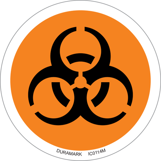ISO safety label - Circle - Biohazard