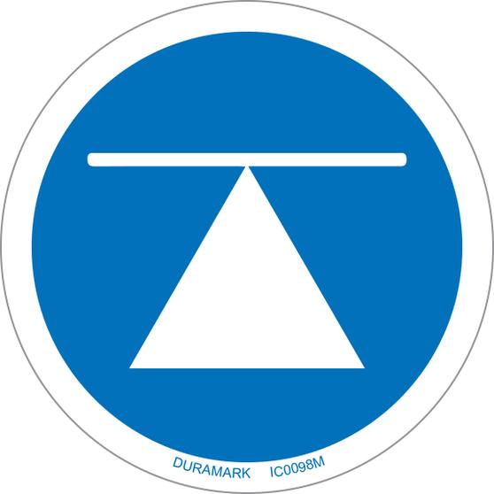 ISO safety label - Circle - Mandatory - Center Of Gravity