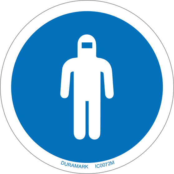 ISO safety label - Circle - Mandatory - Wear Full Body Protection