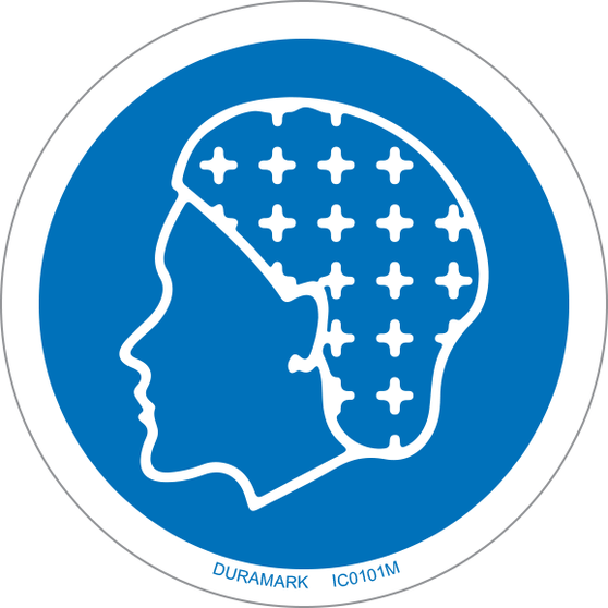 ISO safety label - Circle - Mandatory - Hairnet Required