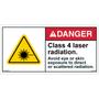 ANSI Safety Label - Danger - Class 4 Laser Radiation - Direct Exposure