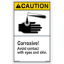 Caution - Chemical Safety - Corrosive - Vertical
