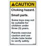 Caution - Choking Hazard - Small Parts - Vertical