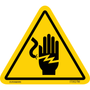 ISO safety label - Triangle - Shock - Hand