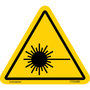 ISO safety label - Triangle - Exposure - Laser