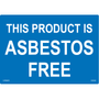 ANSI Safety Label - Notice - Asbestos Free - All Blue