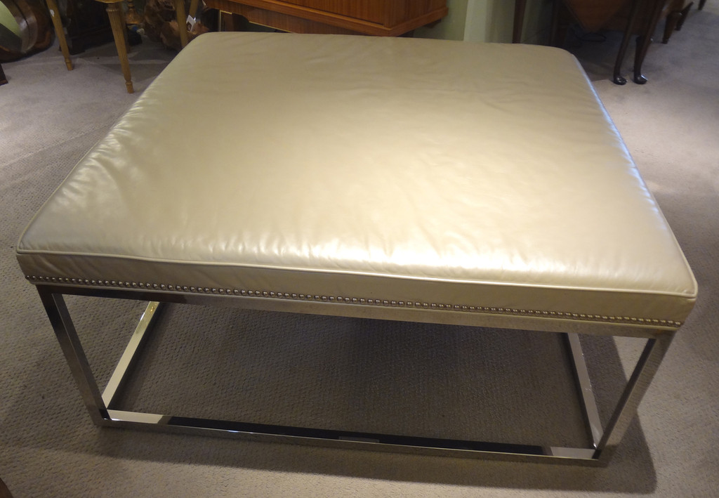 Leather Ottoman by Mitchell Gold & Bob Williams